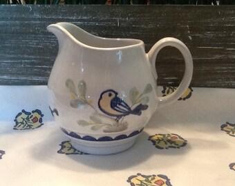 Vintage Franciscan USA  1980's Lovebird Stoneware Creamer