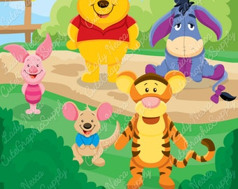Forest animals, bear, piggy, donkey -LN0135-