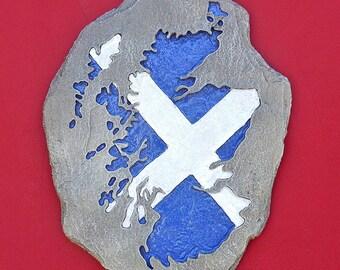 Saltire Scotland Map