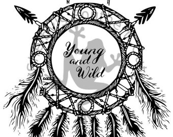 Young and Wild Dream Catcher SVG file