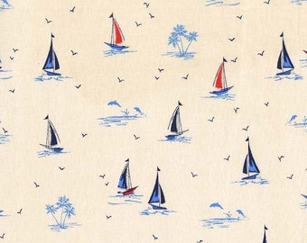 Michael Miller Yacht Club Collection - Sail On - Ivory