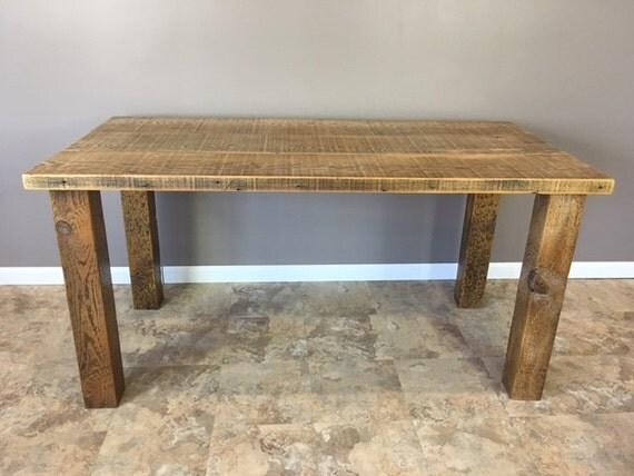 Reclaimed Wood Kitchen Island Bar 4x4 Wood Leg Bases By Barnxo
