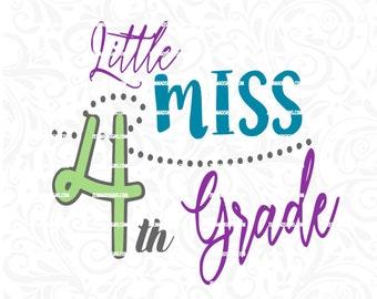4th grade svg - fourth grade svg -Svg files - back to school svg - commercial use svg - .SVG .EPS ,DXF