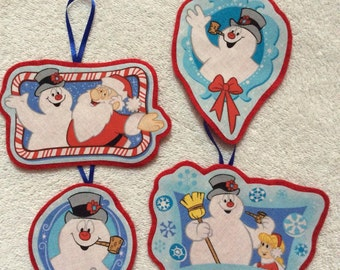 Frosty the Snowman Christmas Ornaments-Set of four ornaments!!