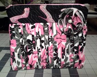 Pink Clutch, Black Clutch, Pink Purse, Multi Clutch Fashion Accessory, Pink and Black Clutch, Medium Clutch