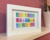 Rainbow Houses - Framed A5 Giclee Print.