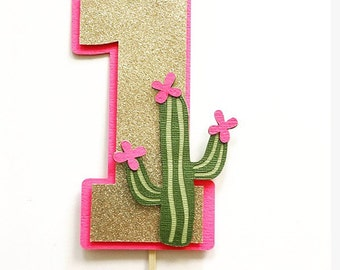 Cactus Smash Cake Topper! First Birthday Party Cake Topper- Cactus Theme Party