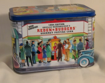 Tin/ Vintage Pop Corn Tin   1994 Edition Reden /  Budders FGourmat Pop Corn Tin