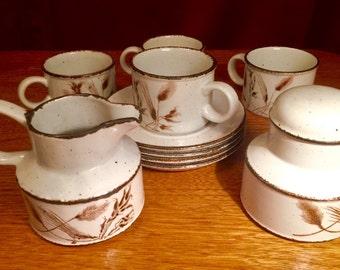Vintage Stonehenge Midwinter Wild Oats tea set