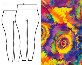 Tie Dye Splash Leggings