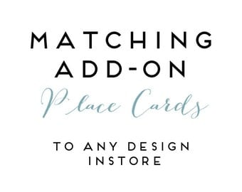 Add on PLACE CARDS