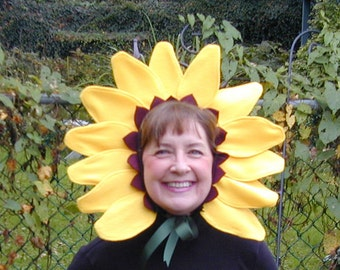 Sunflower Headband Pattern Tutorial. Sweet Easy Halloween costume diy - sewing