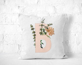 Letter B Pillow, Monogram Pillow, Personalized Pillow, Monogrammed Pillow, Initial Pillow, Monogram Cushion, Nursery Throw Pillow, Letter B