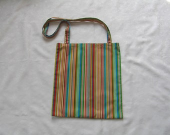 beach bag, stripy, colourful, multicoloured, shopping, holiday, fabric bag, mothers day gift, birthday gift