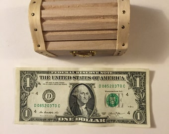 Small Unfinished Treasure Chest, DIY Ring Bearer Box, Rustic Ring Box, Ring Holder, Keepsake Ring Box, Special Ring Box, Engagement Ring Box