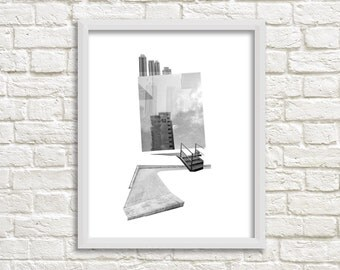 Photographic Collage Print: Great Heights