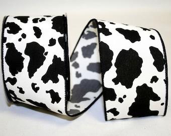 Cow Print Ribbon - 2 Widths