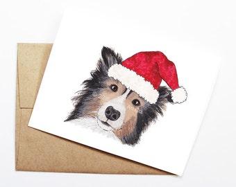 Christmas Card - Sheltie, Dog Christmas Card, Cute Christmas Card, Holiday Card, Xmas Card, Seasonal Card, Christmas Card Set