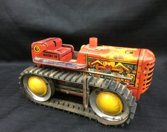 Marx Tin Tractor Toy