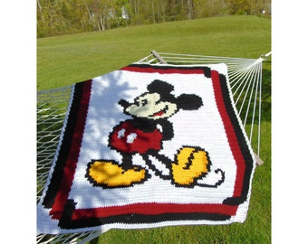 Pattern / Graph / Mickey Mouse / Afghan / Disney / Graphghan / PDF