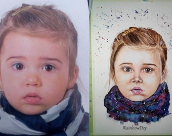 Custom portrait (pens, watercolor, pencil,..) - choose your style! Delivery available in France!