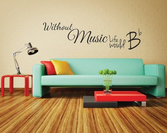 Music Wall Decal Quote | Music Wall Sticker Words | Music Wall Decor Quote    Without Part 40