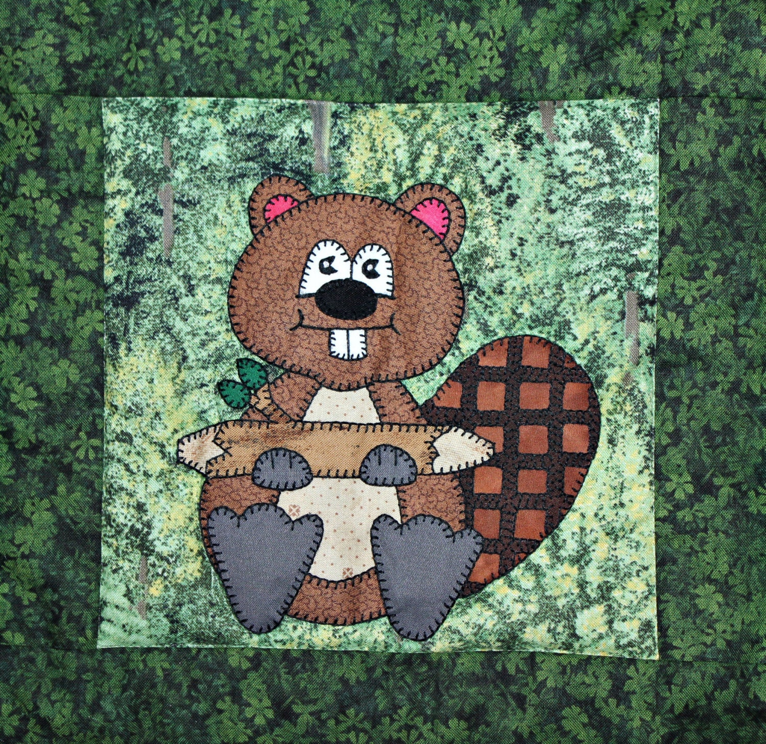 Busy Beaver Pdf Applique Quilt Block Pattern North American