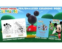 Mickey Mouse Clubhouse Personalized Coloring Book Digital