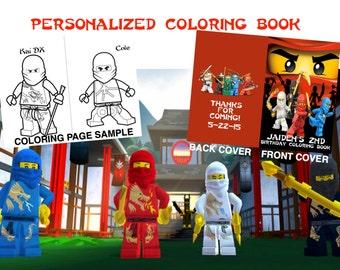 Lego Ninjago Personalized Coloring Book Digital
