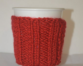 Rib Knit Coffee Coozie
