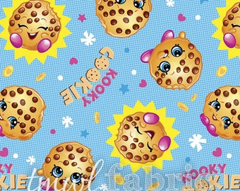 Woven Fabric - Shopkins Kooky Cookie - Fat Quarter Yard +