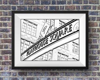 Cleveland Art, Print, Playhouse Square