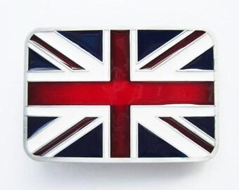 Union Jack United Kingdom UK Great Britain British Flag Metal Belt Buckle