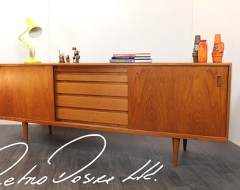 Vintage 1960's Teak Sideboard by H.W. Klein for Bramin Møbler Danish