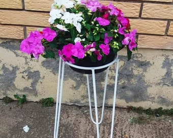 Metal Wire Plant Stand Mid Century Style M Size