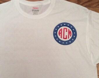 Fourth of July Monogram Shirt