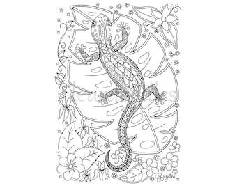 handgezeichnete ausmalbilder von maike geller von fleurdoodles