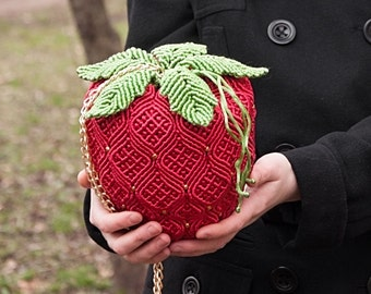"Handbag ""Strawberry"""