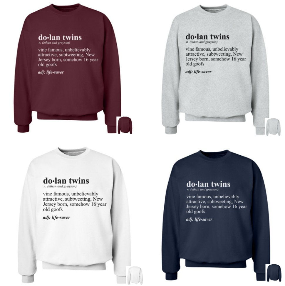Dolan twins definition crewneck by dolanobsessed on etsy