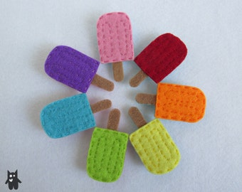 Hand Sewn Felt Ice Block Brooch\\Choose your favourite flavour!