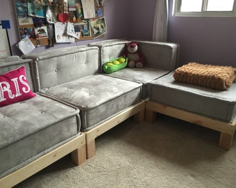 Solid Wood Base for Pottery Barn PB Teen Cushy Lounge Sofa Loveseat Sectional Ottoman Cushion Assemble Kit
