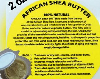 2 oz Raw African Shea Butter