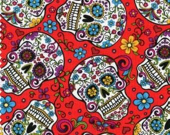 Sugar Skull Cotton Fabric. BTY.