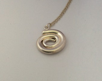 Pure Silver WHIRL Pendant Necklace        1140