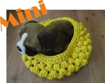 Dog cot yellow colored mini size