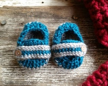 Baby Boy Monk Strap Booties, 0-3 months