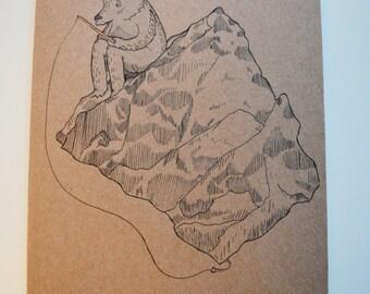 Bear Fishing Card