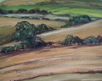 Towards Lakeland original acrylic painting