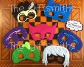 Pajama Heros & Villians Masks