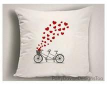 Gifts for Bike Lovers, Cute Pillows for Sofa, Decorative Pillow Covers, Large Throw Pillows, Oversized Pillow Covers, Designer Pillows